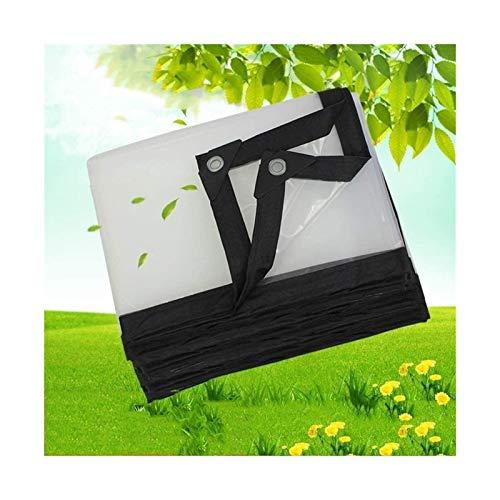 ETNLT-FCZ Toldo Clear Tarpaulin Lonas Impermeables claros Esquinas reforzadas, Film Invernadero Transparente, suculentas, Almacenamiento Abierto/Tienda del jardín (Color : Clear, Size : 3x3m)