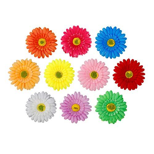 Blumen Haarspangen Sonnenblume Haarclip Blume Mehrfarbig Haarklammer Haarschmuck Haarnadeln für Kinder Frau Mädchen 10 Stück