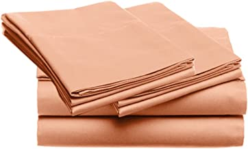 SUPER SOFT Microfiber Loft 21 Collection, TWIN 3pc Sheet Set, 4-LOF21S-227, Solid CORAL