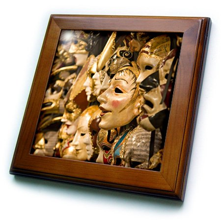 3dRose ft_82115_1 venezianische Karnevalsmasken, Venedig, Italien, EU16 KPI0011, Kristin Piljay, gerahmte Fliese, 20,3 x 20,3 cm