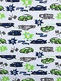 Frottee Stoff Kinderstoff Autos blau Breite 170cm (1m)
