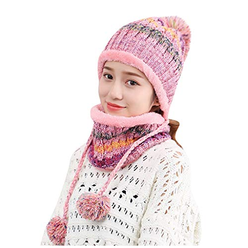 Shinehua gebreide muts en sjaal set vrouwen mannen meisjes unisex vlechtpatroon gebreide muts verdikte sjaal handschoen hoed gewonden winter combi cadeauset