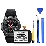 [400mAh] Battery for Samsung Gear S3 Frontier (SM-R760, R770, R765), Gear S3 Classic Replacement Battery EB-BR760ABE GH43-04699A with Professional Repair Tools Kits