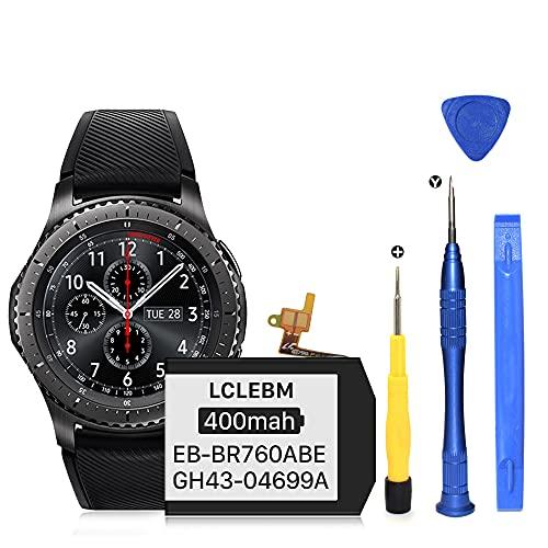 Akku für Samsung Gear S3 Frontier (SM-R760, R770, R765), Gear S3 Classic EB-BR760ABE GH43-04699A, 400 mAh, mit professionellen Reparaturwerkzeug-Sets