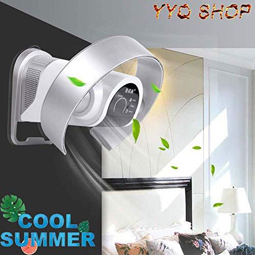 N / A Bladeless Fan 37W Desktop/Wand-Ventilator mit Fernbedienung und Timer, Low Noise Pinnwand Fan LED-Touch Screen für Home/Office,Silber