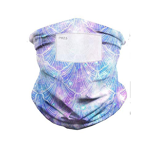 Weiming Breathable Neck Gaiter Sun Protection Face Cover Scarf with Filter Element,Summer Bandana Balaclava for Outdoor Cycling Sport Hiking Fishing,Color 6