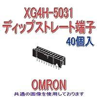 オムロン(OMRON) XG4H-5031 (40個入) 形XG4H ボード・ボードソケット ディップストレート端子 50極 (極性スロット1) NN