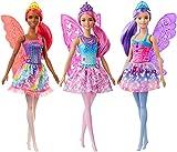 Barbie Dreamtopia Muñeca Hada, con pelo rosa, alas y corona (Mattel GJJ99) , color/modelo surtido