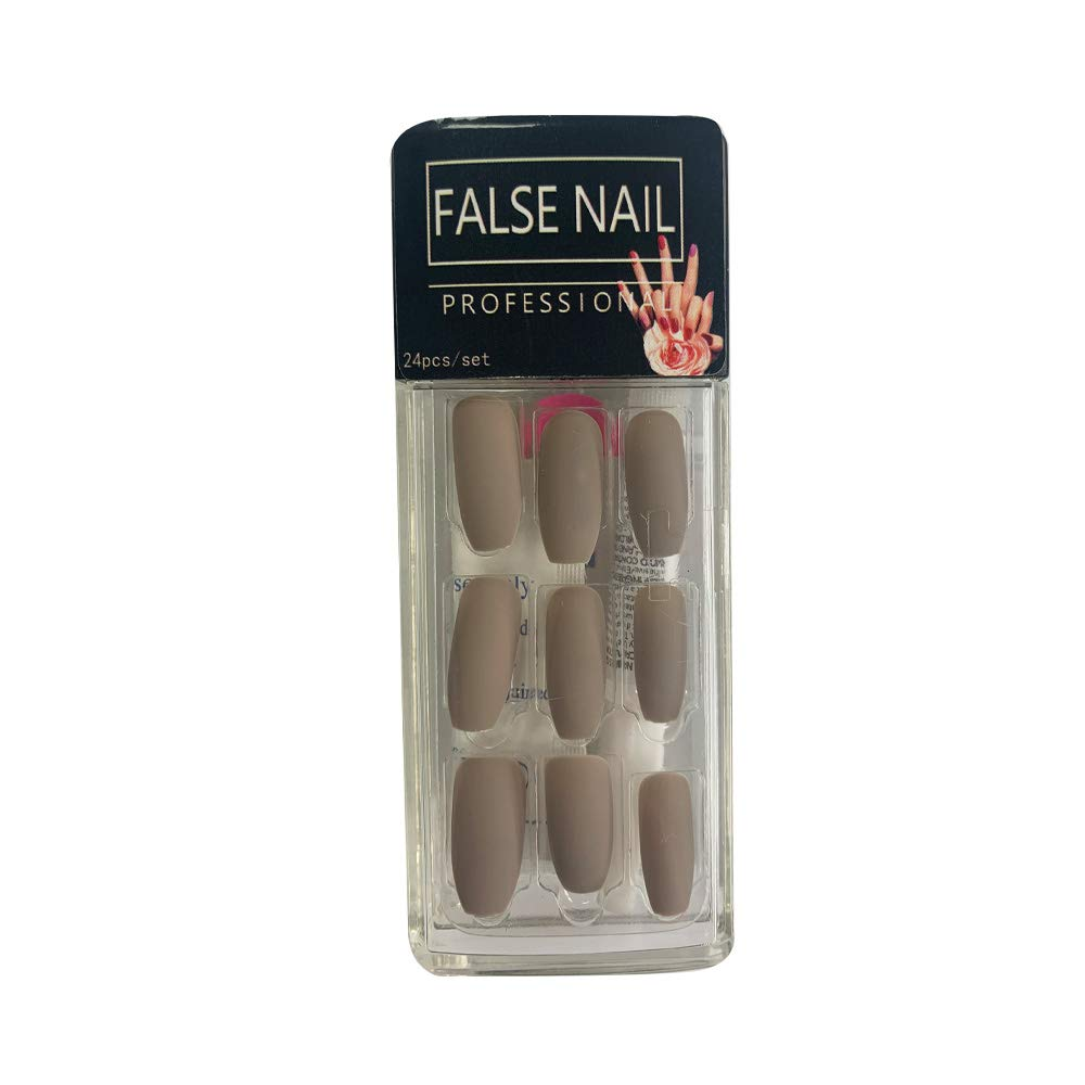 GENNYUE Premium Salon Coffin Matte Full National products False Pure Nails Cover Raleigh Mall