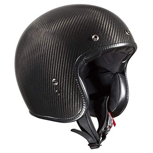 Bandit Helmets ECE geprüfter Carbon Jethelm,ECE 22-05,Motorrad,Roller, Sports-Farbe:Carbon, Größe:XS(54cm)