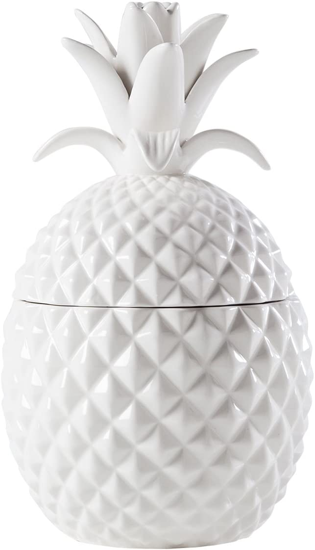 Torre Tagus 902642B wholesale online shop Pineapple Ceramic Canister Tall White