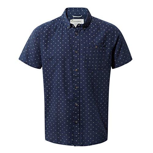 Craghoppers T-Shirt Deacon à Manches Courtes pour Homme Small Night Blue Combo