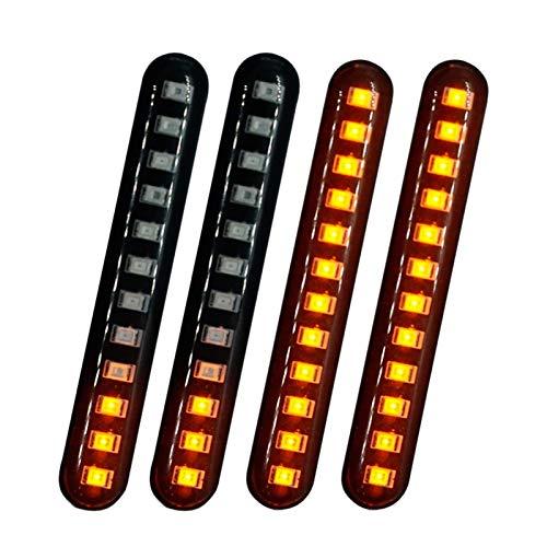 4pcs Turn Signal Light 12LED FUTT-IN FUTT-in Flowing Gurn Gurn Signals Flashing for Motor Blinker Impermeable Placa Light Light (Color : 4PCS)