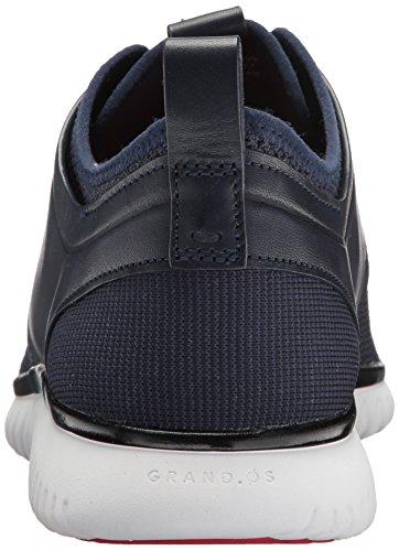 Cole Haan Men's Grand Motion Knit Sneaker, Gray Pinstripe/Black/Vapor Grey, 10 Medium US