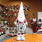 Bosji Christmas Decorations, Kids Gifts Christmas Dwarf Hanging Ornaments Faceless Claus Toy Doll Table Top Decor, Plush Long Hat Forest Man Figurine Old ManToy Doll Window Display (D, 1PCS)