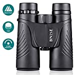 BNISE Binoculars Compact for Bird Watching, Asika 10x42 Waterproof/Fogproof/Shockproof - BaK4 Roof Prism 14mm Exif Relief - with Neck Strap and Carrying Case for Kids and Childrens Astronomy