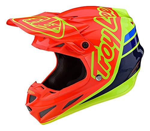 Troy Lee Designs D3 Fiberlite Silhouette Mountain Bike Helmet Orange/Yellow XL