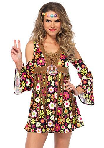LEG AVENUE 85610 - Starflower Hippie, M, Mehrfarbig