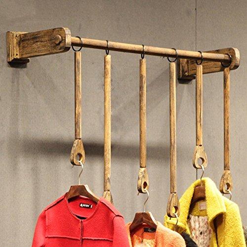 LIANGJUN Mural Porte-Manteau Bois Massif Vêtements Suspendus Magasin De Vêtements Porte-Serviettes/Vêtements Style Industriel Vintage, 3 Tailles Optionnel Portemanteau