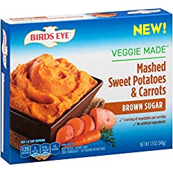Birds Eye Steamfresh Veggie Made, Mashed Sweet Potatoes & Carrots with Brown Sugar, 12 Ounce (Frozen