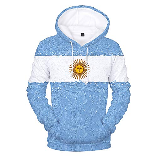 INSTO Sweatshirt National Fußball Mannschaft Karikatur Gedruckt Sweatshirt Beiläufig Lose Kapuzenpullover Unisex Einfach Wild / A6 / M
