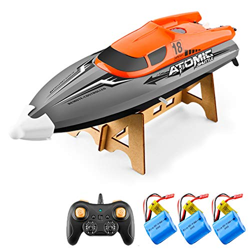RC Boat for Adults Kids, Anti-collision Hull Flip Reverse with 2.4GHz 4...