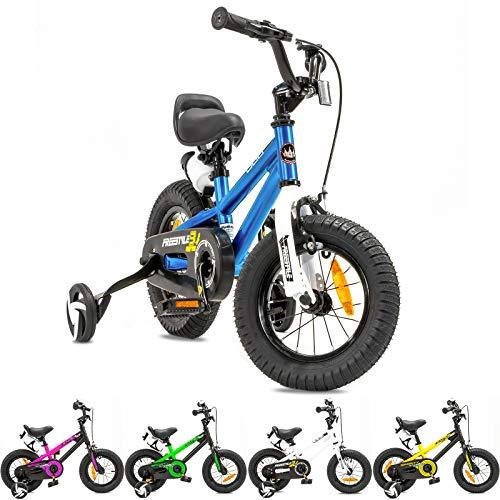 NB Parts - Bicicleta infantil para niños y niñas, BMX, a partir de 3 años, 12 pulgadas / 16 pulgadas, color azul, tamaño 12