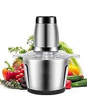Kacsoo Food Chopper 3L Rvs Eletric Vlees Grinder Grote Capaciteit Vlees Grinder voor Vlees Groenten Fruit Ui en Noten met 4 Scherpe Blades