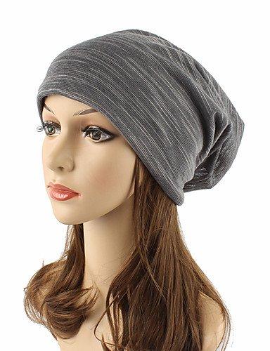 ZYT Unisexe Coiffure Mignon Décontracté Chic & Moderne Décontracté/Quotidien Tricot Coton Bonnet/Crochet Capeline,Solide Automne Hiver, Brown, One-Size