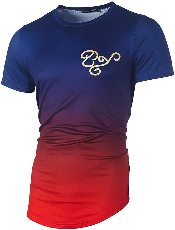 DUXIGJCD Fashion Men's Casual Slim Printed Patchwork Short Sleeve T Shirt Top Blouse Tops & Tees Men Mens Clothing Venom