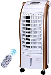 Qiutianchen Gree Aire Acondicionado Ventilador Gree Aire Acondicionado Ventilador Silencio Control Remoto móvil pequeño Aire Acondicionado Ventilador de refrigeración@Dorado