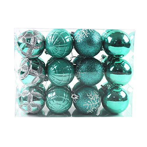 24Pcs Christmas Balls Baubles Party Xmas Tree Decorations Hanging Ornament Decor