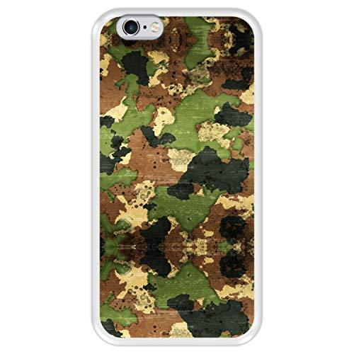 Hapdey Funda Transparente para [ Apple iPhone 6 6S ] diseño [ Patrón Militar de Camuflaje ] Carcasa Silicona Flexible TPU