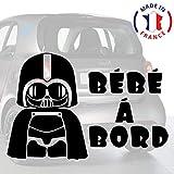 Sticker bébé à bord pour voiture Dark Vador 20 cm Noir - Anakiss