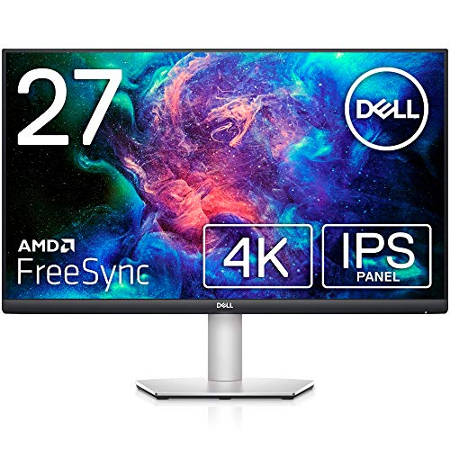"""Dell 4K Wide Frameless Monitor, 27"""" S2721QS (3 Year No Brightness Replacement Warranty) AMD FreeSync™ 4K/IPS Matte DP, HDMI x2, Vertical Rotation, Height Adjustment, Speaker Included)"""