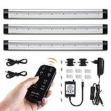 Albrillo 3er Pack 12W LED Unterbauleuchten - 900LM Dimmbar Küchenlampe mit Timer Funktion
