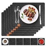 Platzsets aus Filz, 12er Set Tischsets und Untersetzer, 44x32 cm Abwaschbar und Hitzebeständigen Tischuntersetzer Platzdeckchen - 7