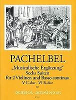 """PACHELBEL - Suites (6) Vol.3 """"Recreacion Musical"""" para 2 Violines y Piano (Morgan/Kostujak)"""