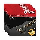 Tiger - Cuerdas para guitarra acústica (5 unidades, 11-52)
