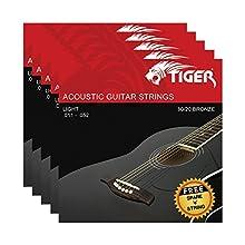 Este paquete increíblemente asequible de 5 cuerdas de guitarra acústica de Tiger son imprescindibles para cualquier guitarrista 052-.030 cuerdas de bronce superligeras producen tonos bajos vibrantes Sus cuerdas lisas crean agudos muy nítidos Con esta...
