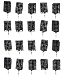 20 Stück Futterkorb Metall Feeder Angler Köder Korb Gewicht 20g eckig schwarz