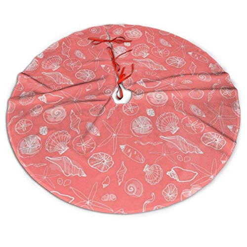 OneDay-Shop Christmas Tree Skirt, Coral Rustic Or Stylish Xmas Tree Holiday Ornaments for 2020 New Year 30 Inch