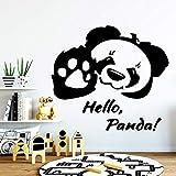 BailongXiao Panda Wall Art Decal decoración Moda Pegatina Kindergarten Room Art Deco Decal 42x46cm