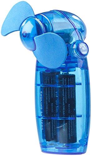 PEARL Taschenventilator: Batterie-betriebener Mini-Hand- und Taschen-Ventilator, blau (Ventilator batteriebetrieben)