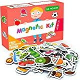 Foam Magnets for Toddlers - Refrigerator Magnets for Kids - Baby Magnets for Refrigerator and Whiteboard with Zoo and Farm Animals - Educational Magnetic Toys - Ideal for Kids!