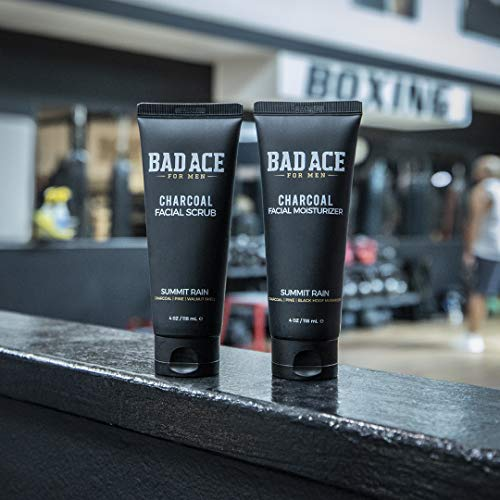 51HtnYAnEpL - BAD ACE Charcoal Facial Wash with Scrubs for Men - Summit Rain