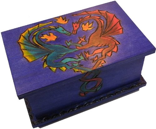 Dragon Trick Wood Box Polish Handmade Secret Opening Wooden Puzzle Box