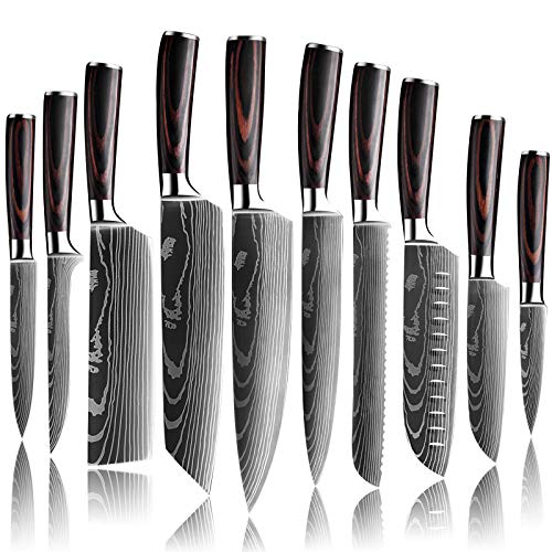 DFITO Kitchen Chef Knife Sets, 3.5-8 Inch Set Boxed Knives...