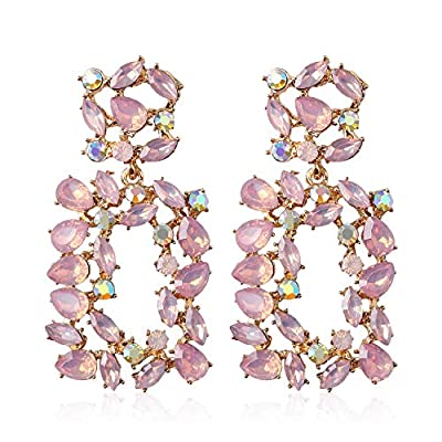 Statement Earrings for Women Fashion 2020 with Dangling Rhinestone,Aretes De Mujer De Moda,Costume Colorful Jewelry Stud Earring by Holylove