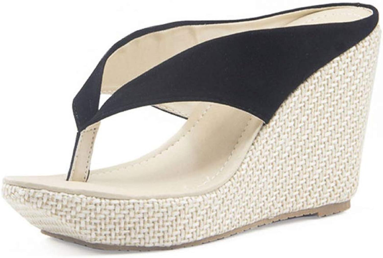 MEIZOKEN Women Platform High Heels Wedge Slippers Open Toe Flip Flops Ladies Casual Open Toe Summer shoes Sandal